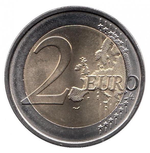 2 евро 2015 Бельгия - 30 лет флагу Евро Союза