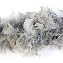 Боа из перьев индейки 80 гр., 2м., светло-серый