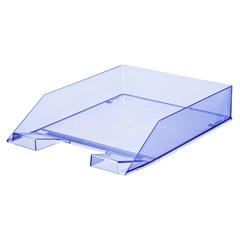 Лоток для бумаг горизонтальный Attache синий (4 штуки в упаковке)