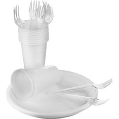 Набор одноразовой посуды SHL Столовый на 10 персон