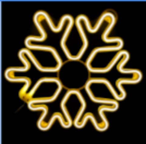Гирлянда снежинка 45см неон