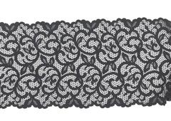 Эластичное кружево, черное, 20 см, (Арт: EК-2017), м