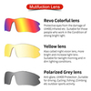 Очки солнцезащитные XQ548, (зелёный металлик / зеркальные revo) +2 доп. линзы