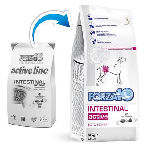 купить форза10 FORZA10 ActiveLine DOG Intestinal Active сухой корм для взрослых собак всех пород, диетический рацион при заболеваниях ЖКТ
