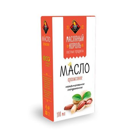 Арахисовое масло 100% холодного отжима 100мл  (Масляный Король)