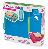 Набор Lunch: контейнер и бутылка 475мл, артикул 1597, производитель - Sistema
