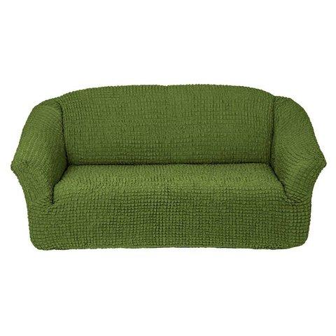 Чехол на 3-х местный диван зеленый без оборки.
