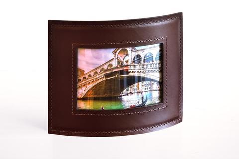 Рамка для фотографий PREMIUM из кожи Full Grain Brown/Cuoietto черный
