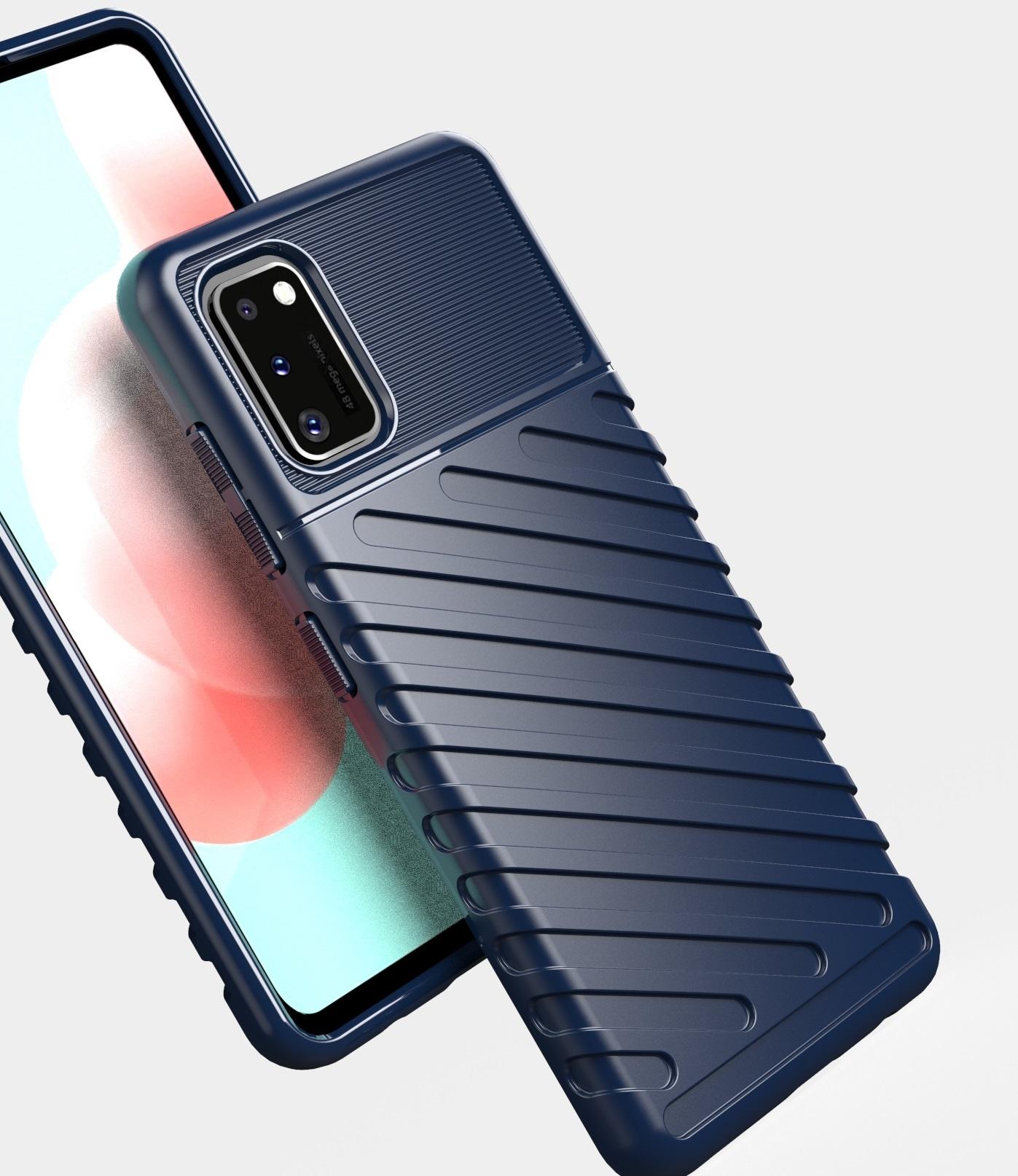 Темно синий чехол на телефон Samsung Galaxy A41, серия Onyx от Caseport