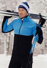 Утеплённая лыжная куртка Nordski Premium Light Blue-Black 2020