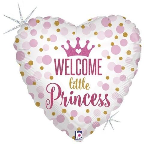 Шар сердце Welcome little Princess