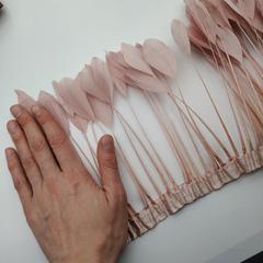 Тесьма  из перьев гуся h 18-20 см. на толстой ножке, (выбрать цвет)