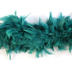 Боа из перьев индейки 80 гр., 2м., темно-изумрудный