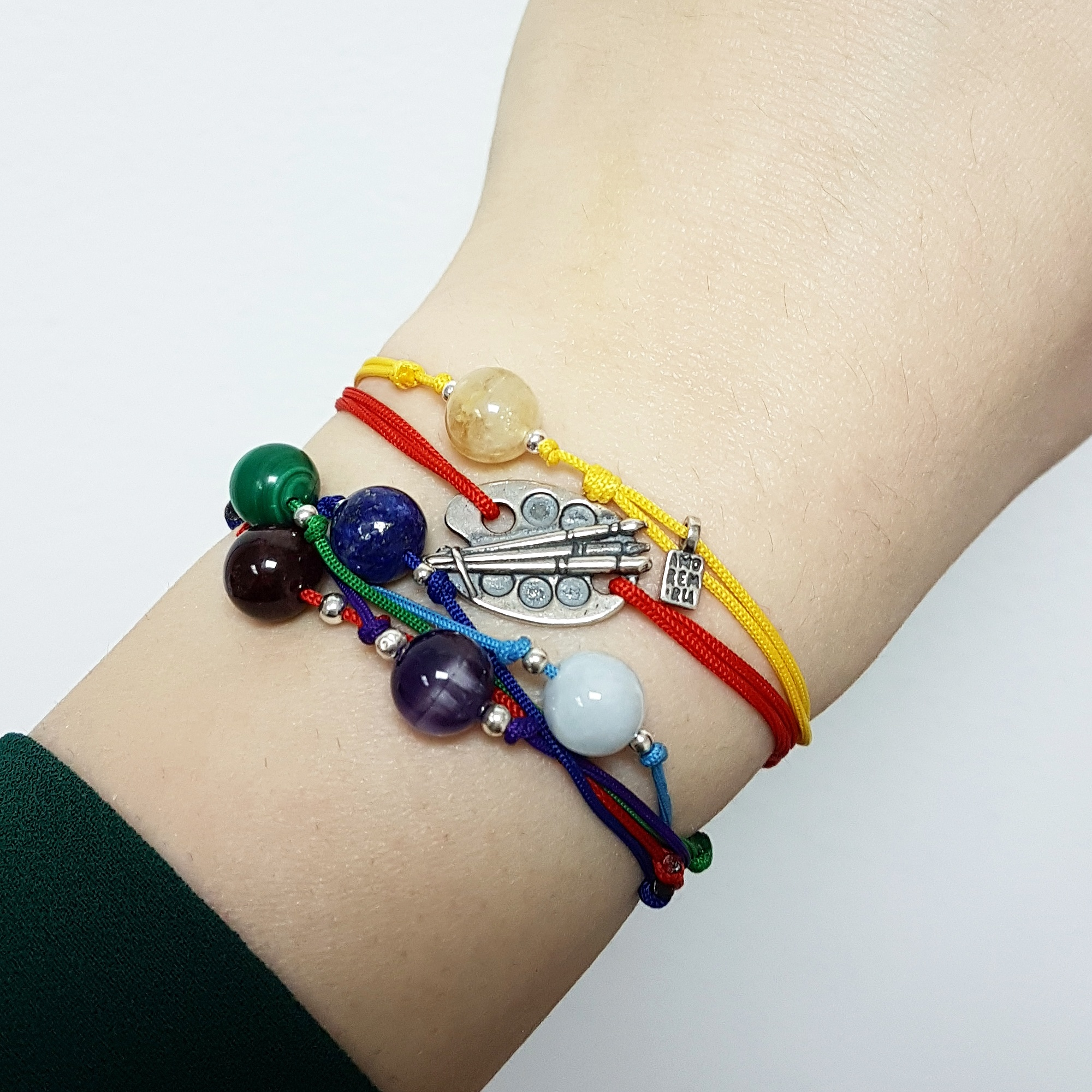 The Root Chakra balancing red cord  bracelet