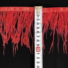 Купить оптом перья Страуса на ленте в интернет-магазине Light Siam светло-красные