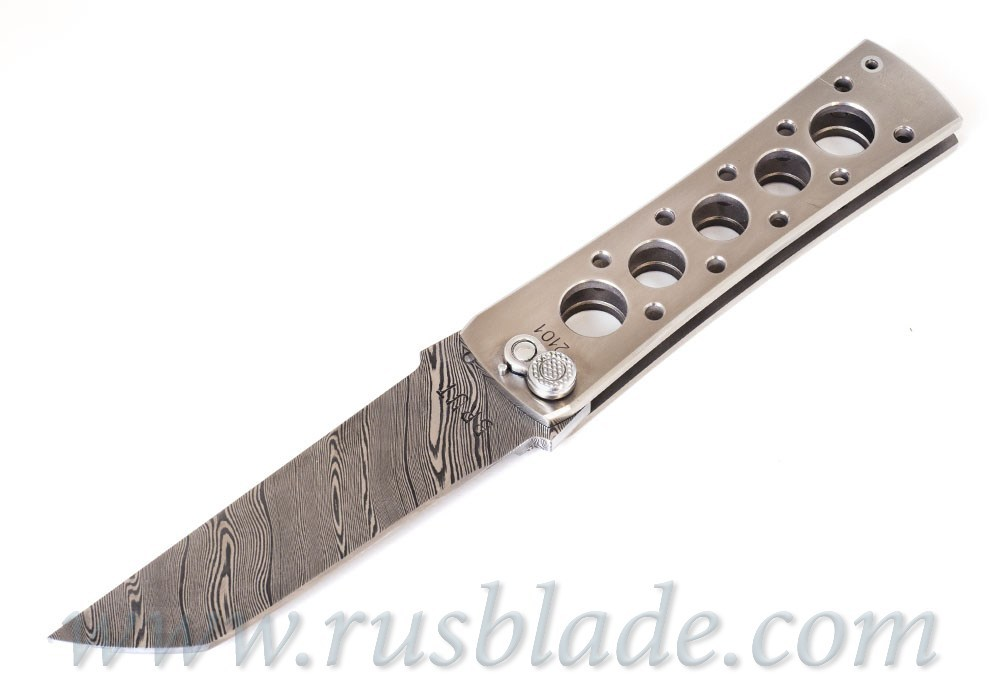 Custom Urakov Brut Damascus Titanium Tanto