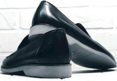 Мягкие лоферы туфли классические мужские Luciano Bellini 91178-E-212 Black.