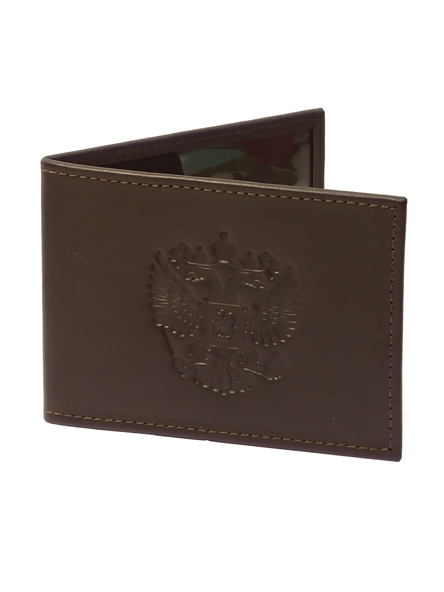 Обложка для удостоверения «Герб». Цвет коричневый