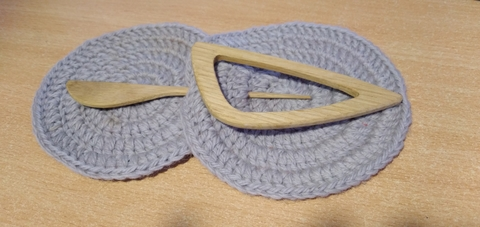 Заколка для трикотажа Капля (натуральный цвет)