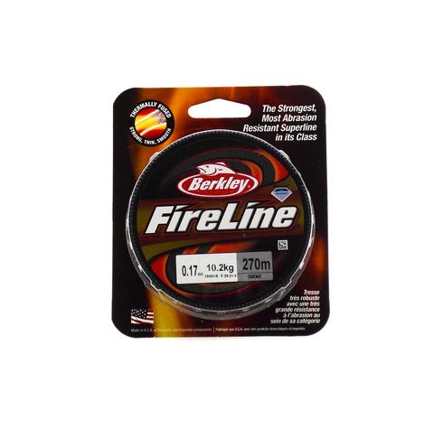 Плетеная леска Berkley Fireline Темно-серая 270 м. 0,17 мм. 10,2 кг. Smoke (1308618)
