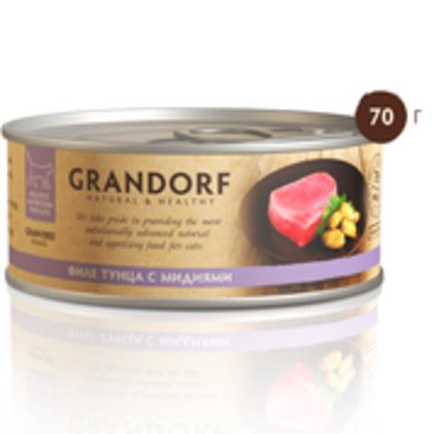 Grandorf филе тунца с мидиями в собственном соку 70г