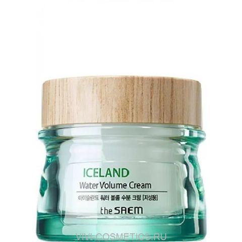 Крем увлажняющий с минеральной ледниковой водой Исландии (для жирной кожи)  | THE SAEM ICELAND HYDRATING WATER VOLUME CREAM FOR OILY SKIN (80ml)