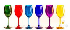 Набор бокалов для вина 250 SYLVIA/KLARA цветные (6 шт), фото 2