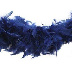 Боа из перьев индейки 80 гр., 2м., темно-синий
