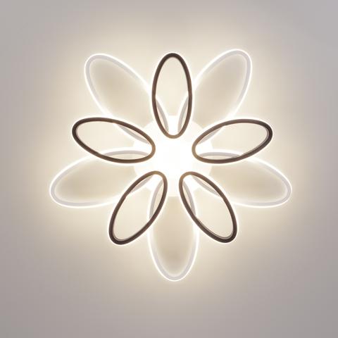 Светодиодный потолочный светильник с пультом управления 90137/10 белый/чёрный