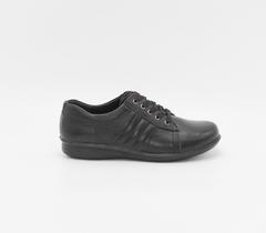Черные кожаные полуботинки на шнуровке