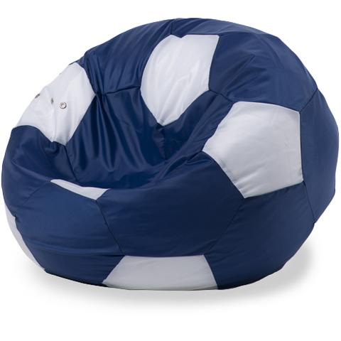 Пуффбери Внешний чехол Кресло-мешок мяч  XXL, Оксфорд Синий и белый
