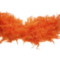 Боа из перьев индейки 80 гр., 2м., ярко-оранжевый