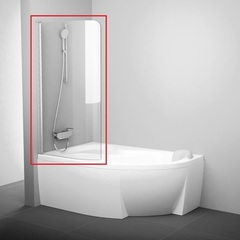 Шторка на борт ванны распашная 85х150 см левая Ravak Rosa CVSK1 140/150 L 7QLM0U00Y1 фото
