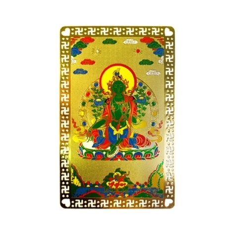 Металлическая карточка Зеленая Тара