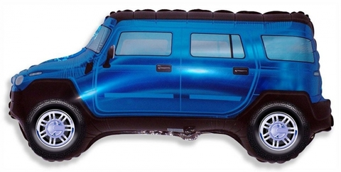 Фольгированный шар Джип синий