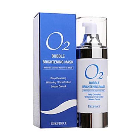 Deoproce O2 Bubble Brightening Mask очищающая кислородная маска для лица
