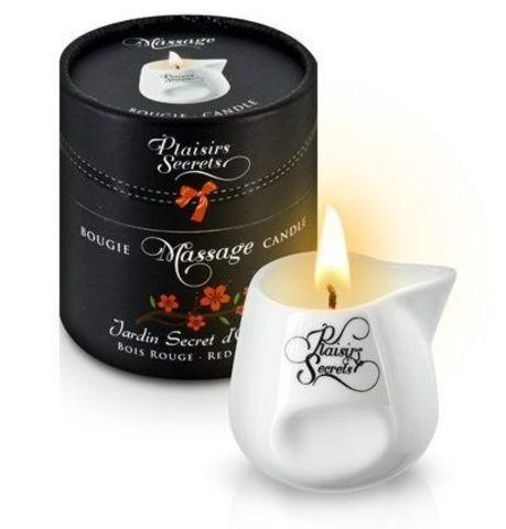 Массажная свеча с ароматом красного дерева Jardin Secret D'orient Bois Roug - 80 мл.
