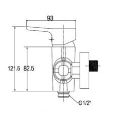 Смеситель KAISER Vega 63077 для душа схема