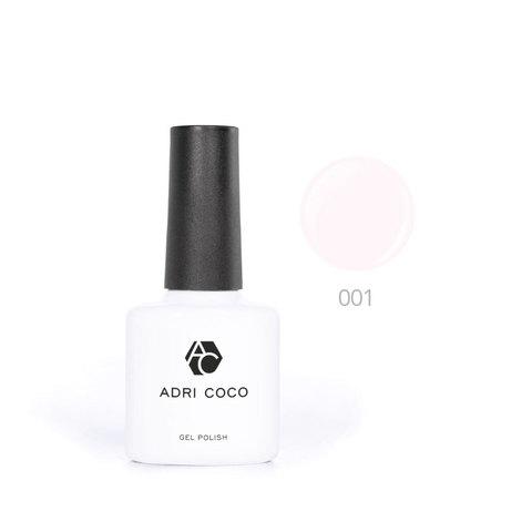 Цветной гель-лак ADRICOCO №001 светло-розовый (8 мл.)