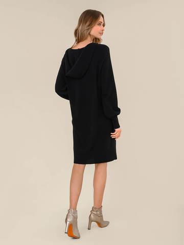 Женское платье черного цвета из шерсти и кашемира - фото 4