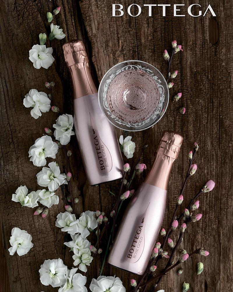 Вино Bottega Gold Розовое Игристое Брют 11,5%, 0,2л.