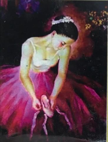 Алмазная Мозаика 30x40 Балерина в розовой пачке (арт. HZS240)