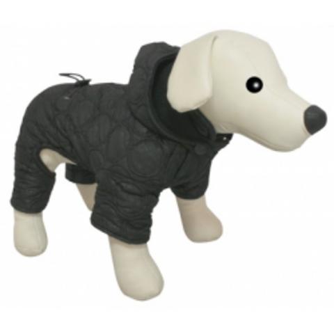 5615122 DEZZIE Комбинезон д/собак теплый с капюшоном стеганый черный 30см