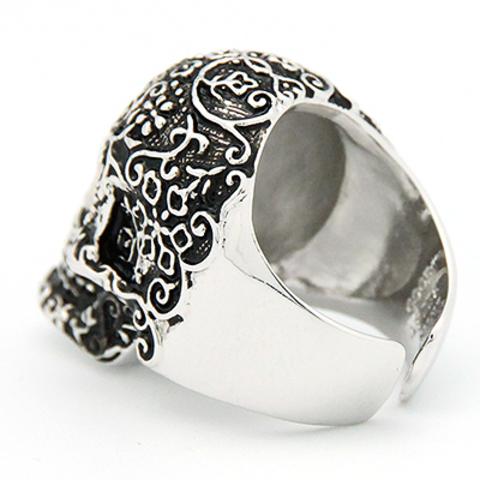 Кольцо Череп Филигранный (серебряный)