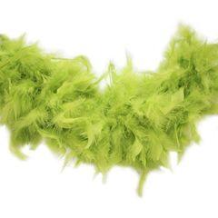 Боа из перьев индейки 80 гр., 2м., ярко-салатовый