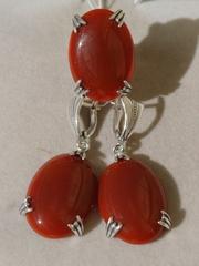 Гравуа (кольцо + серьги из серебра)