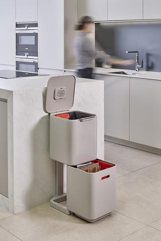 Контейнер для мусора с двумя баками Totem Compact 40 л белый