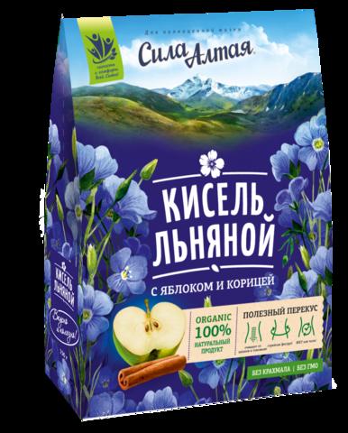 СИЛА АЛТАЯ Кисель льняной с яблоком корицей, 150 г