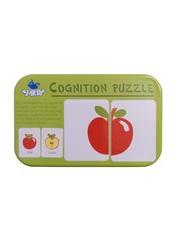 Развивающий пазл SHAPES PUZZLE Овощи Фрукты 32 элемента 16 заданий Серия Синия Птичка в жестяной коробке