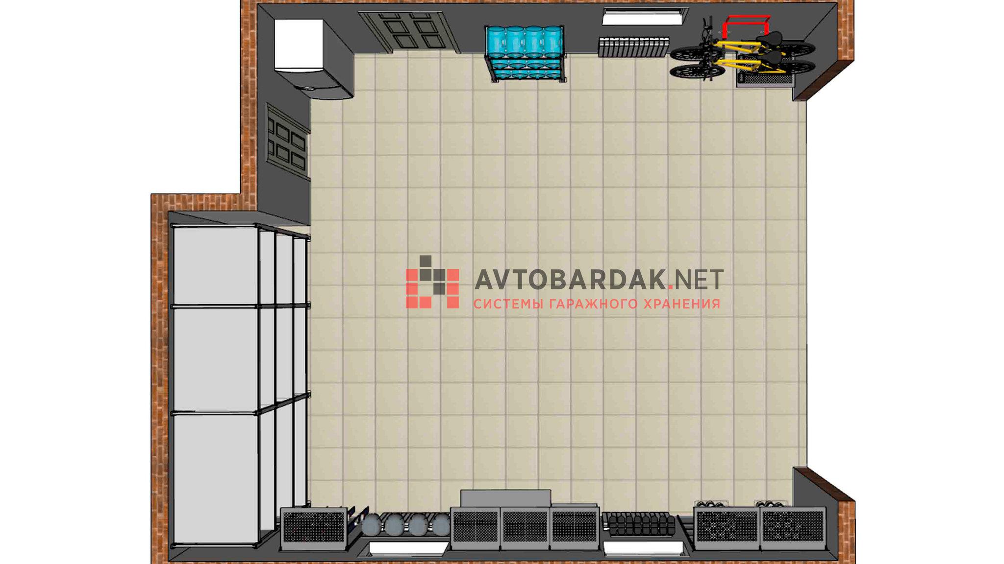 Проект № 15: гараж 44 кв.м (обратите внимание на левую стену в проекте)